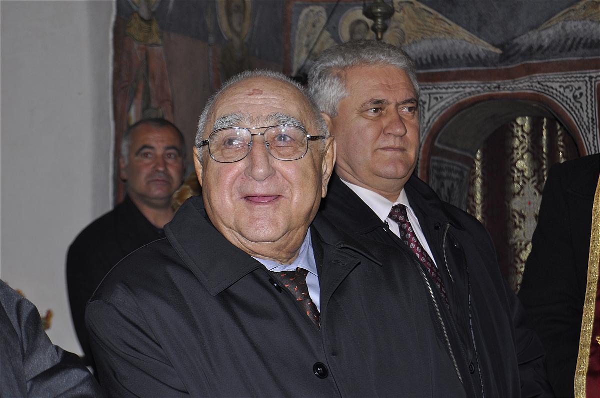Premiile naţionale anuale ale Fundaţiei ,,Nişte ţărani'', 26.10.2014, Dinu Săraru – preşedinte fondator, Olimpiodor Antonescu – preşedinte executiv