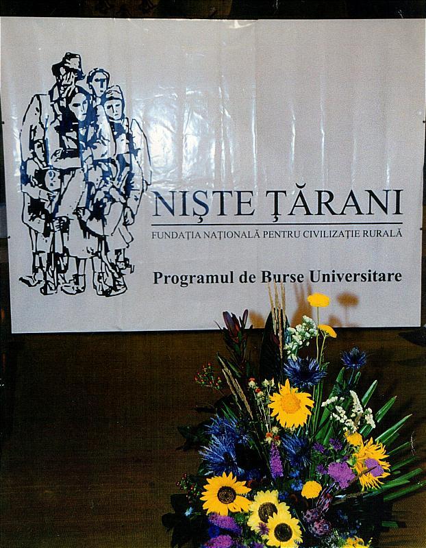 Sigla PHILIP MORRIS ROMÂNIA care a sponsorizat Programul ,,Burse studentești, al Fundației Naționale ,,Niște țărani,, în perioada 2001-2011