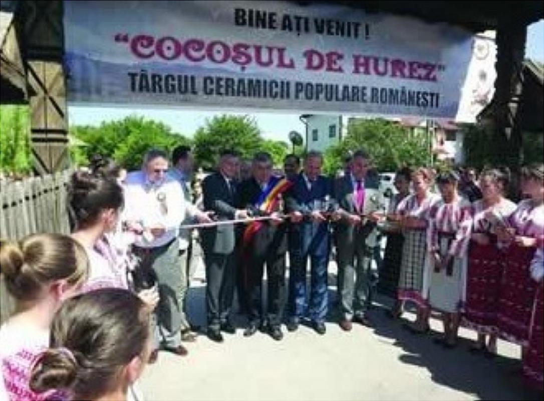 """Tărgul Ceramicii Populare Românești ,,COCOȘUL DE HUREZ"""", ediția a –XLV-a, 5 – 7 iunie 2015, festivitatea de deschidere a târgului"""