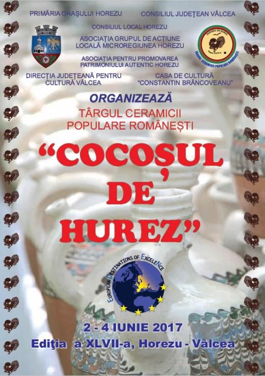 Târgul Ceramicii Populare Românești - Cocoșul de Hurez – 2-4 iunie 2017 - Afiș târg