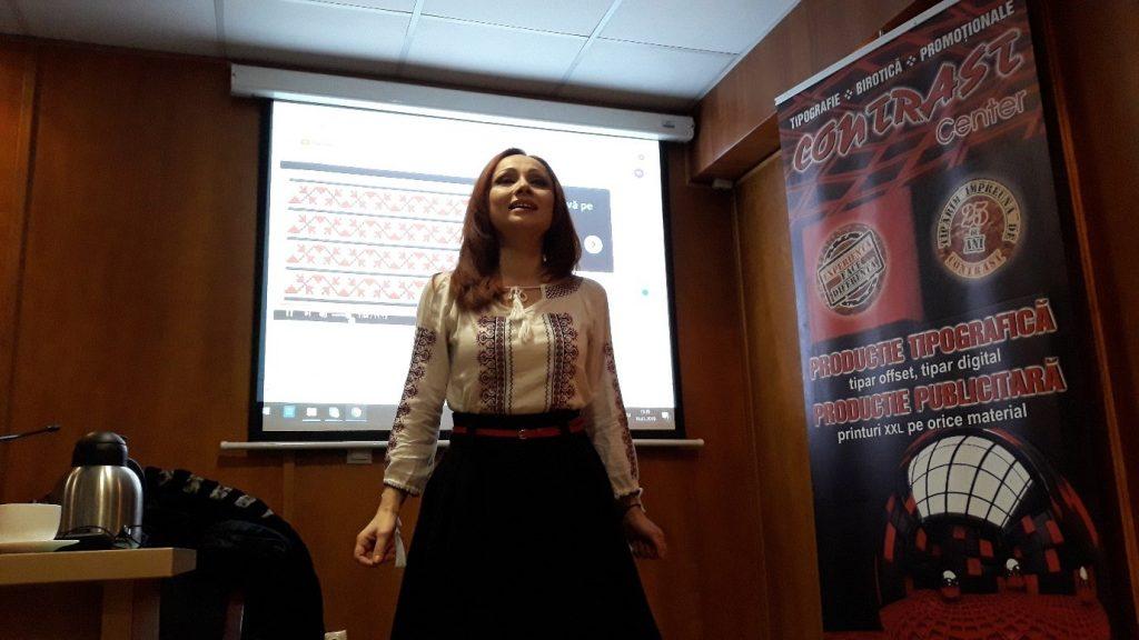 Actrița Camelia Varga – recital de poezie Mihai Eminescu