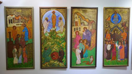 """expoziția de icoane contemporane """"Cugetările sufletului"""" a artistului plastic dr. Laurențiu Dimișcă"""