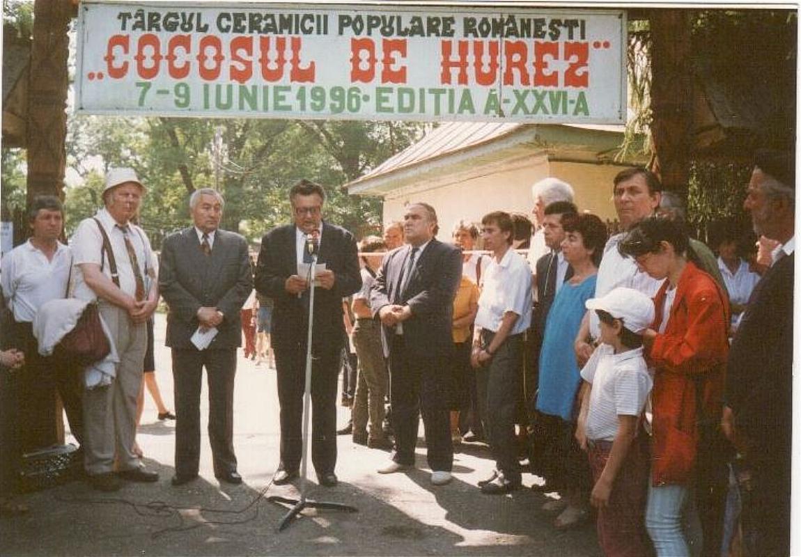 """Tărgul Ceramicii Populare Românești ,,COCOȘUL DE HUREZ"""", ediția XXVI, 7-9 iunie 1996"""