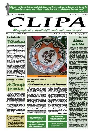 Prima pagină revista Clipa
