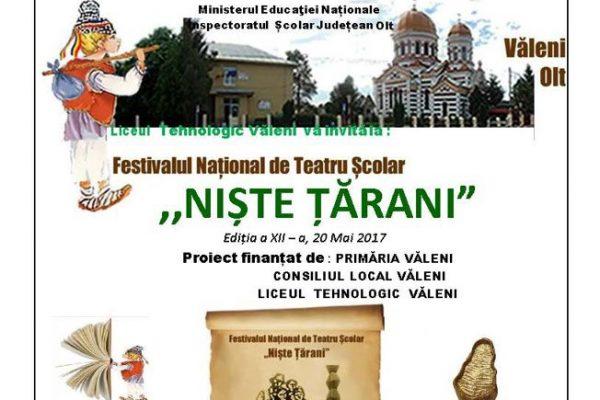 Festival de teatru NIȘTE  ȚĂRANI 2017