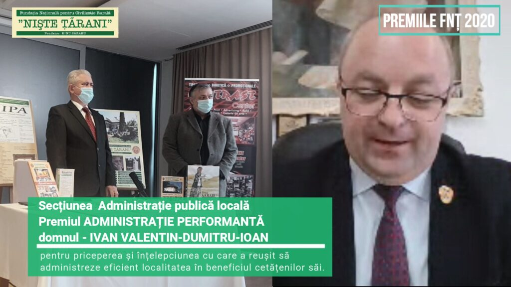 Premiile FNȚ 2020 Ivan Valentin Dumitru Ioan