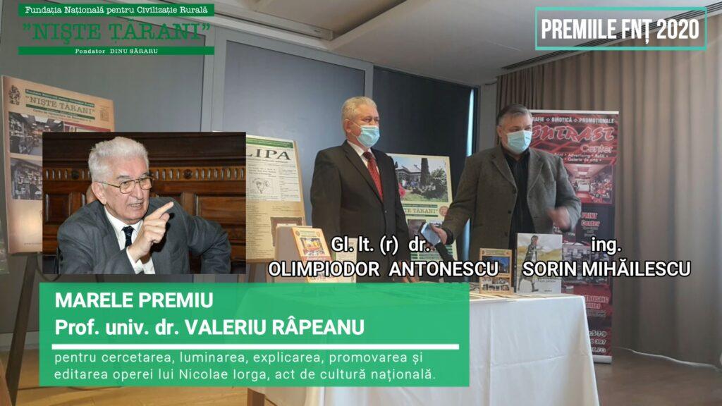 Premiile FNȚ 2020 Valeriu Râpeanu